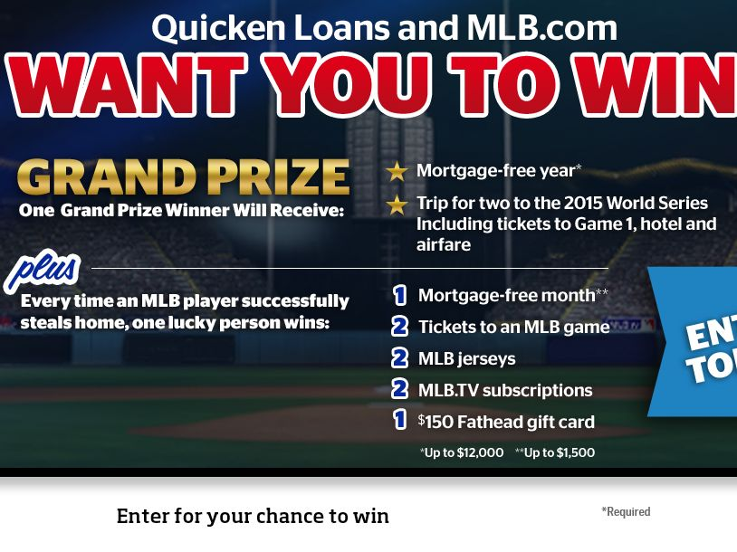 MLB.com & Quicken Loans Steal a Home Sweepstakes