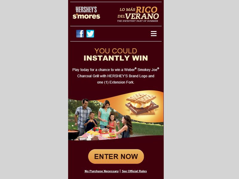 Hershey's 2015 Summer S'mores Grilling Instant-Win Game