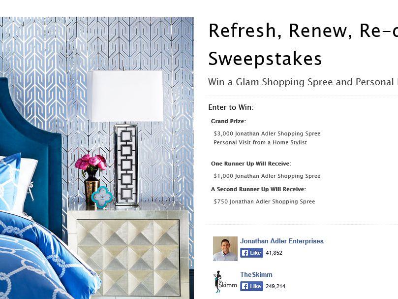 "Jonathan Adler ""Refresh, Renew, Re-Do"" Sweepstakes"
