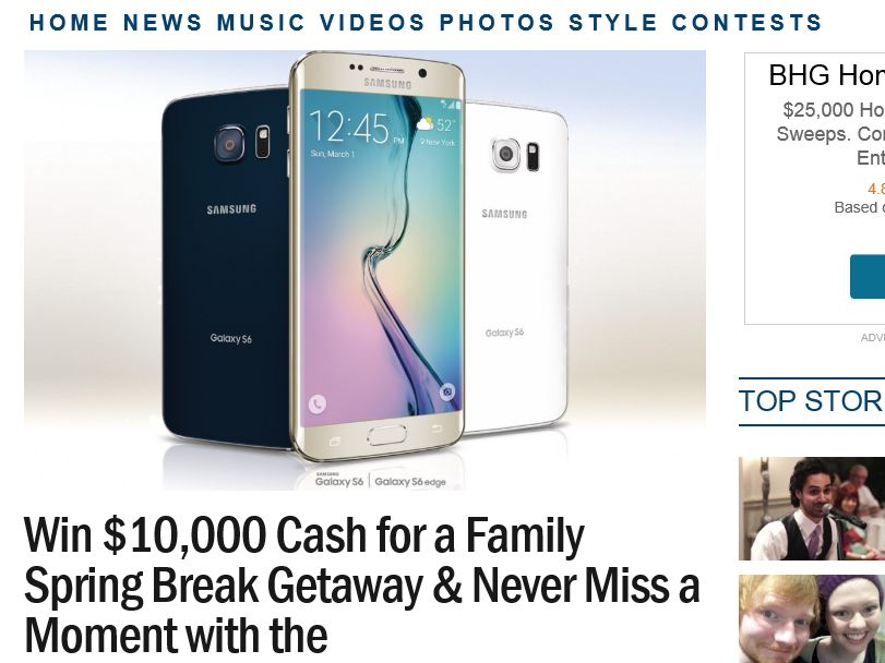 Ryan Seacrest's Samsung Galaxy Family Vacation Sweepstakes