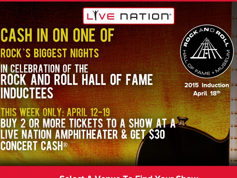 The Live Nation You Pick Flyaway Sweepstakes
