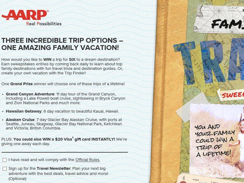 AARP Family Fun Travel Sweepstakes