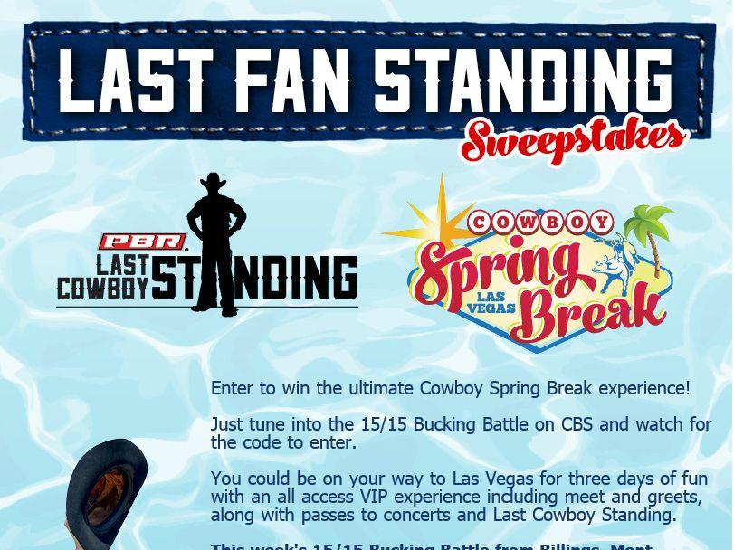PBR Last Fan Standing Sweepstakes