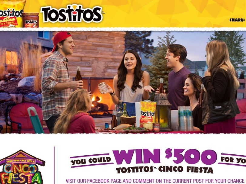 Tostitos Cinco Fiesta sweepstakes