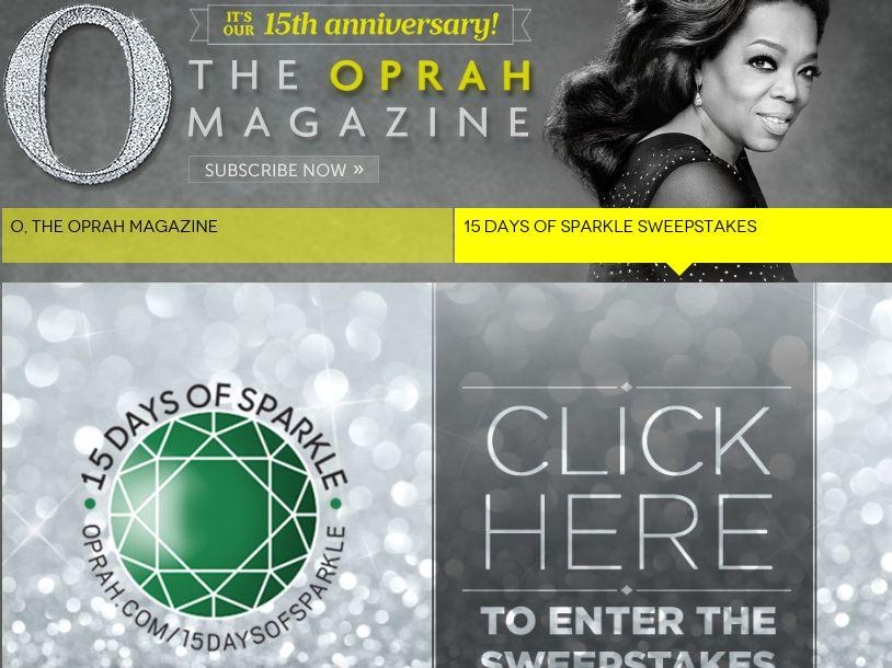 The Oprah Magazine 15 Days of Sparkle Sweepstakes