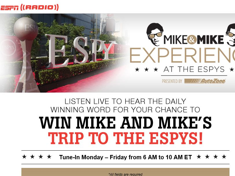 Mike & Mike Experience at the ESPYs Sweepstakes