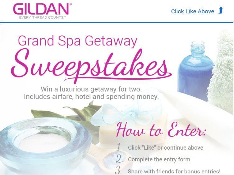 The Gildan Grand Spa Getaway Sweepstakes