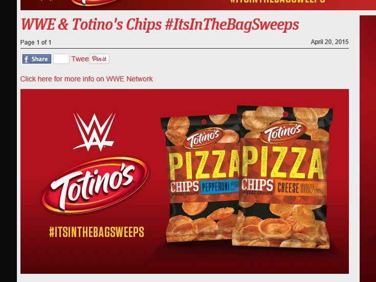WWE & Totino's Chips #ItsInTheBagSweeps Sweepstakes