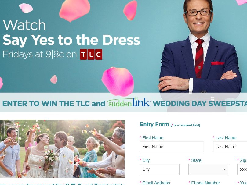 The Suddenlink Wedding Day Sweepstakes – Limited States