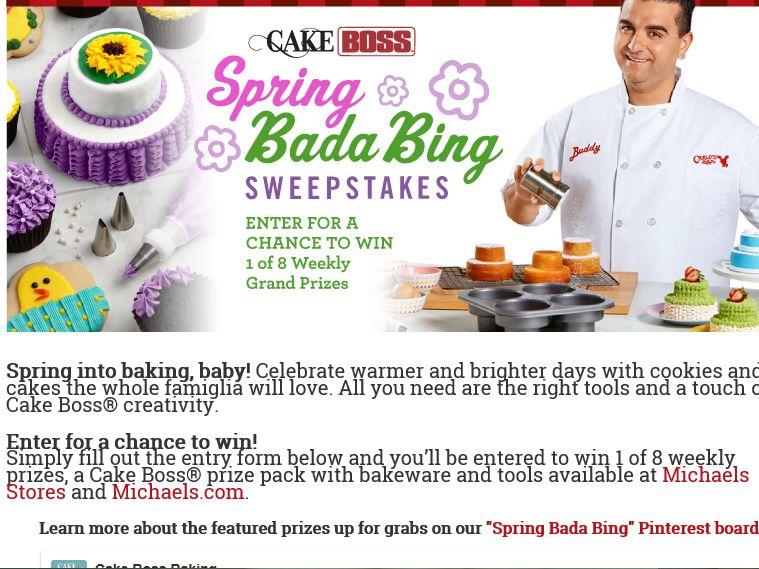 """The Cake Boss Baking """"Spring Bada Bing"""" Sweepstakes"""
