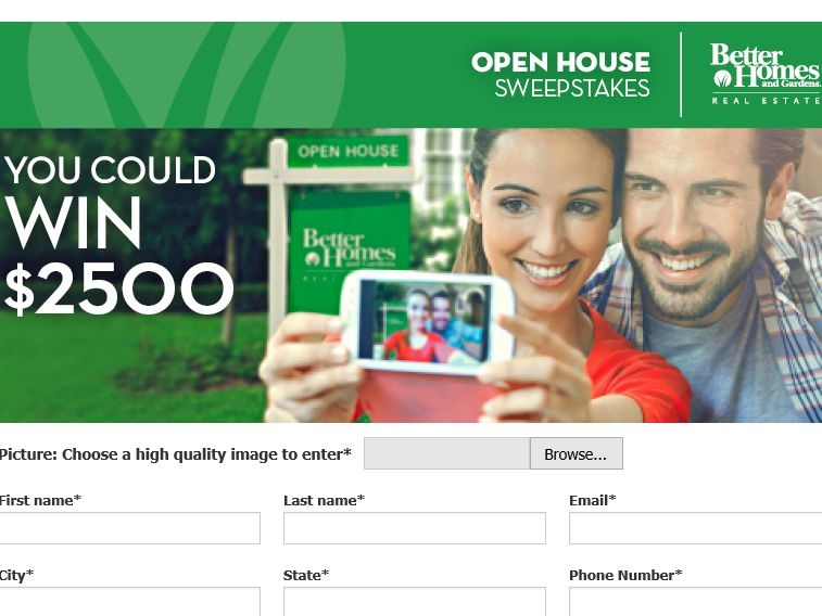 The Better Homes And Gardens Real Estate Open House Sweepstakes