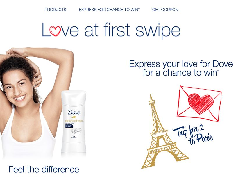 The Dove Love at First Swipe Sweepstakes