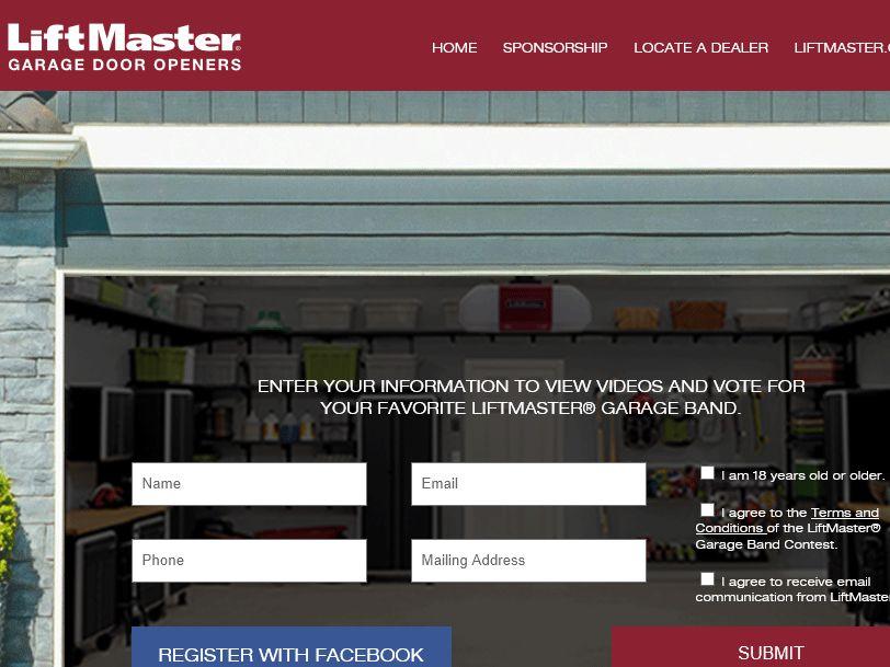 LiftMaster Garage Band Contest