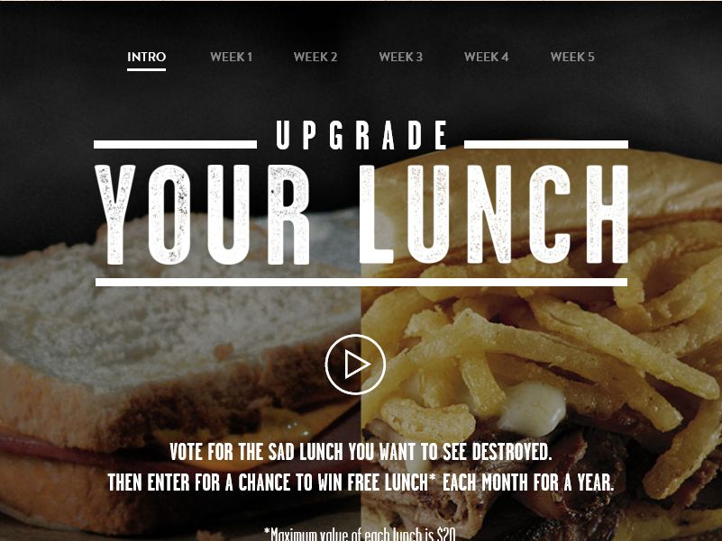 The LongHorn Upgrade Your Lunch Sweepstakes