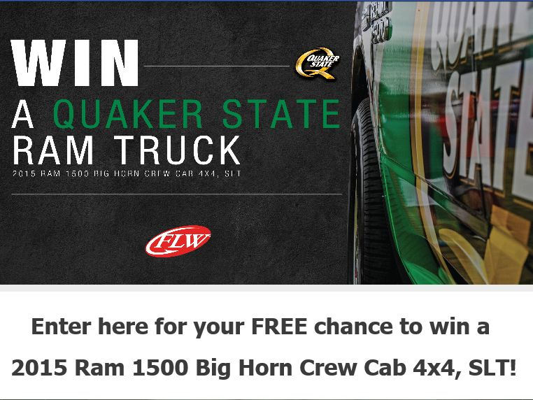 """The FLW """"Win a Quaker State Ram Truck"""" Sweepstakes"""