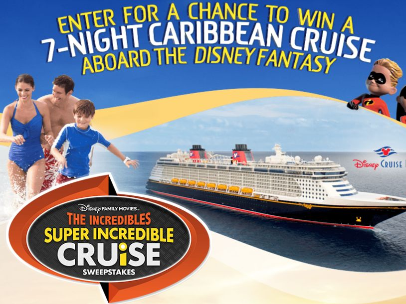 The Disney Family Movies' Incredibles Super Incredible Cruise Sweepstakes