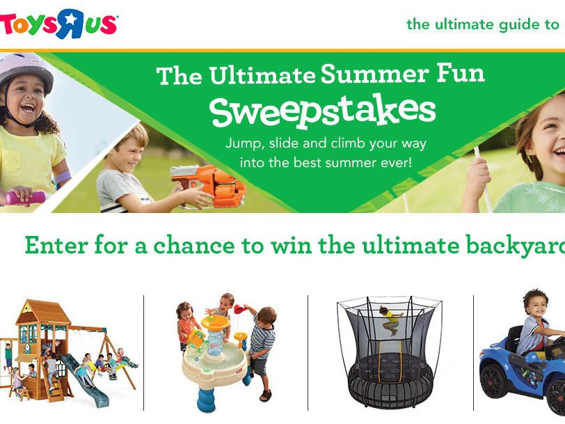 """The Toys""""R""""Us Ultimate Summer Fun Sweepstakes"""