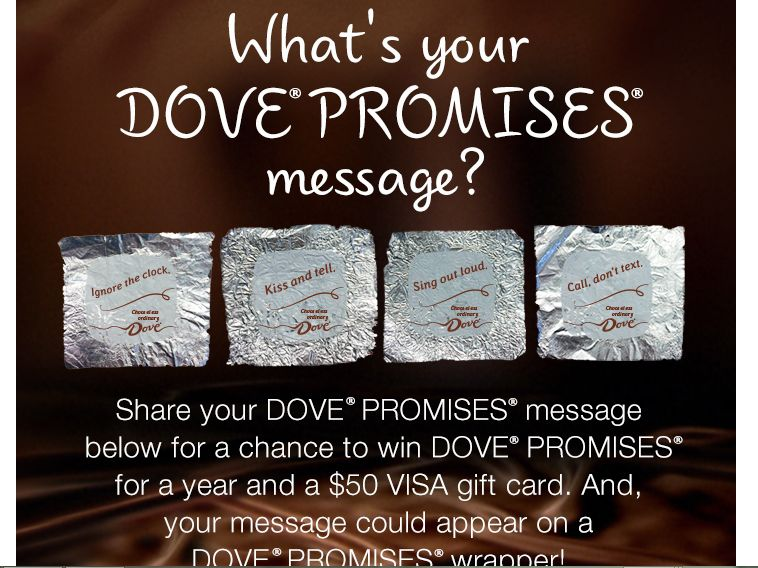 The My DOVE PROMISES Sweepstakes
