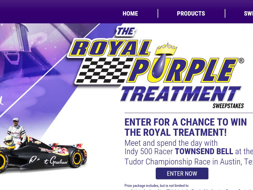 The Royal Purple Treatment Sweepstakes