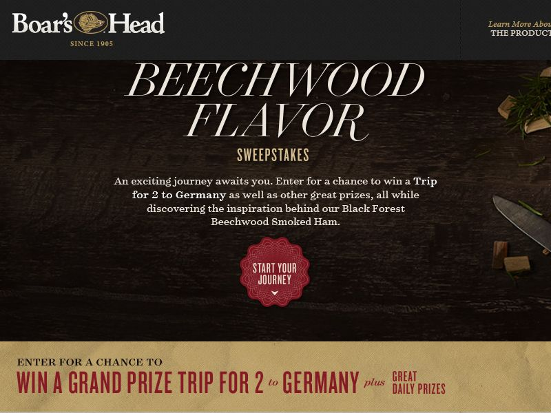 "Boar's Head ""Ticket to Beechwood Flavor"" Sweepstakes"