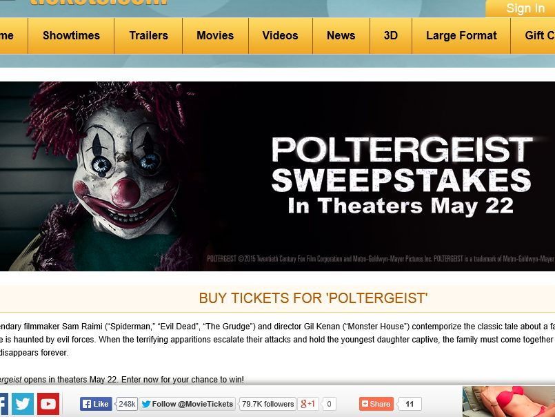 "The MovieTickets.com ""Poltergeist"" Sweepstakes"
