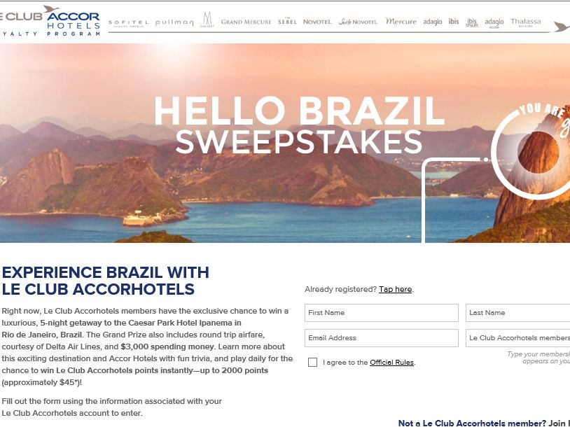 Hello Brazil Sweepstakes