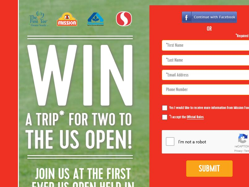 The Mission US Open Sweepstakes