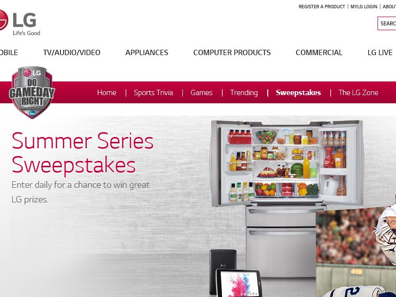 The LG Electronics Summer Series Sweepstakes