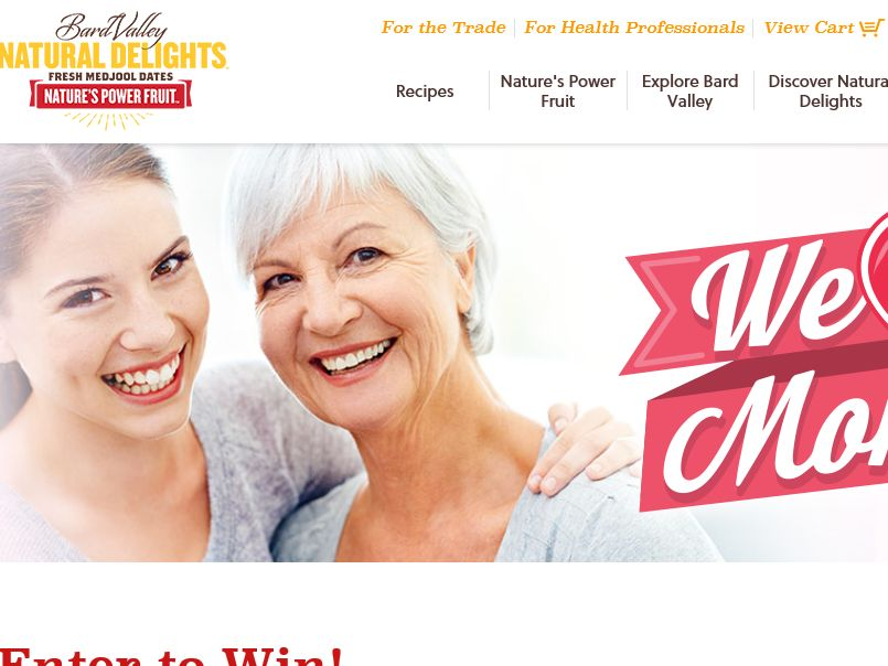 Natural Delights We Heart Moms Sweepstakes
