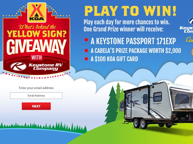 The KOA What's Behind the Yellow Sign Giveaway