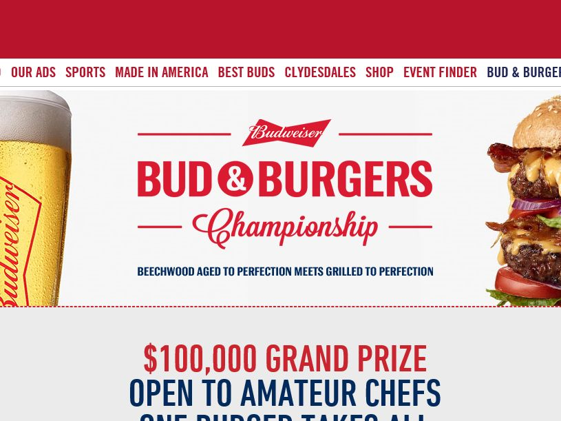 """The """"Bud & Burgers Championship"""" Sweepstakes"""