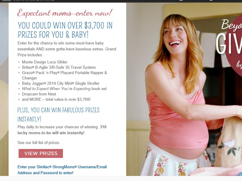 Beyond the Bump Giveaway by Similac StrongMoms Sweepstakes