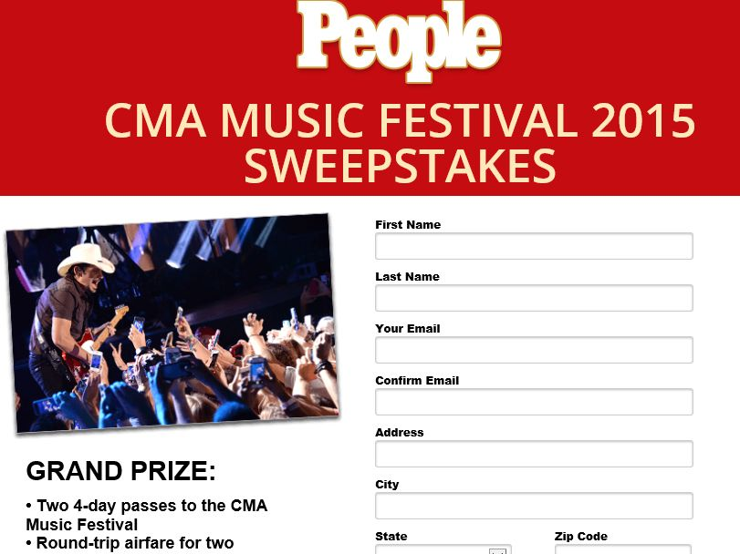 The People CMA Fest Sweepstakes