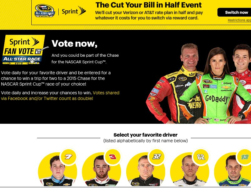 The 2015 Sprint Fan Vote Sweepstakes