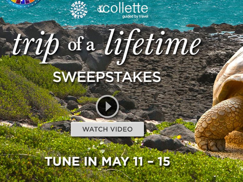 The Wheel of Fortune Trip of a Lifetime Sweepstakes