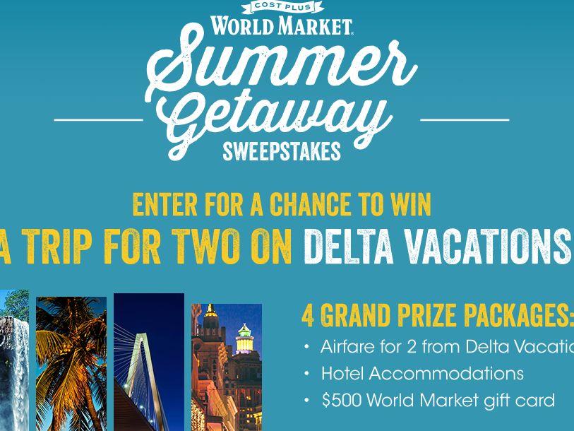 World Market's Summer Getaway Sweepstakes