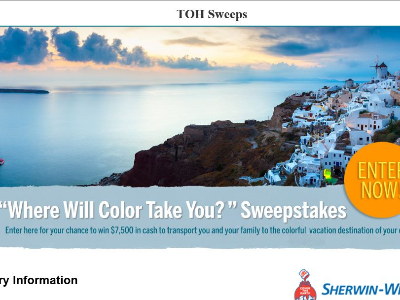 """The Time Inc. """"Where Will Color Take You"""" Sweepstakes"""