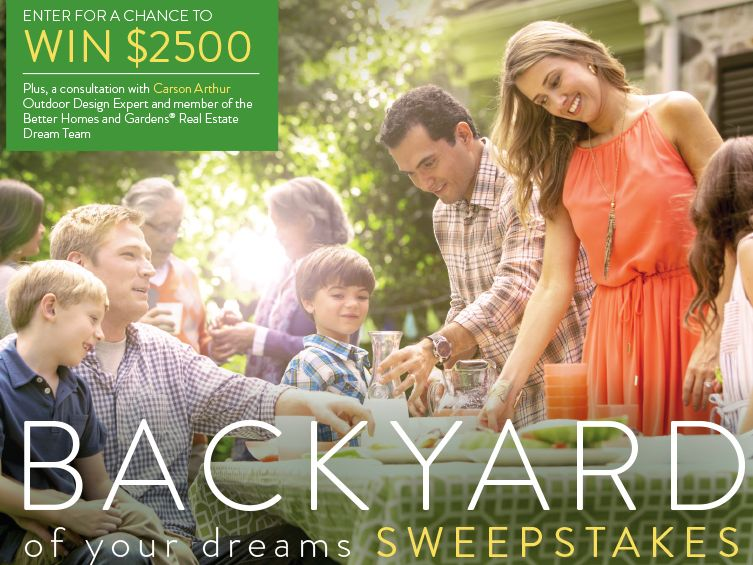 The Better Homes and Gardens Real Estate Backyard of Your Dreams Sweepstakes