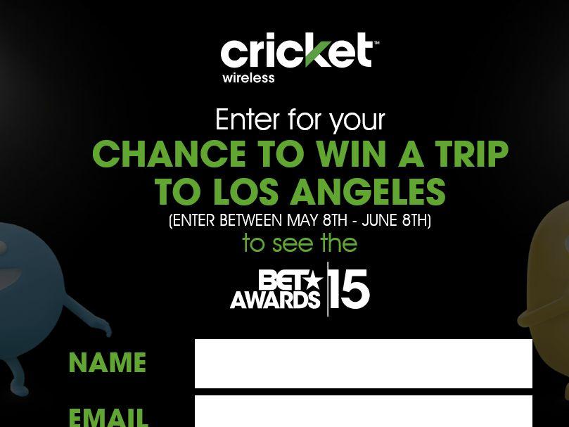 Cricket Wireless VIP Awards Weekend Sweepstakes