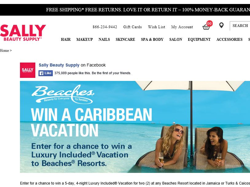 Sally Beauty Supply Beaches and Waves Sweepstakes
