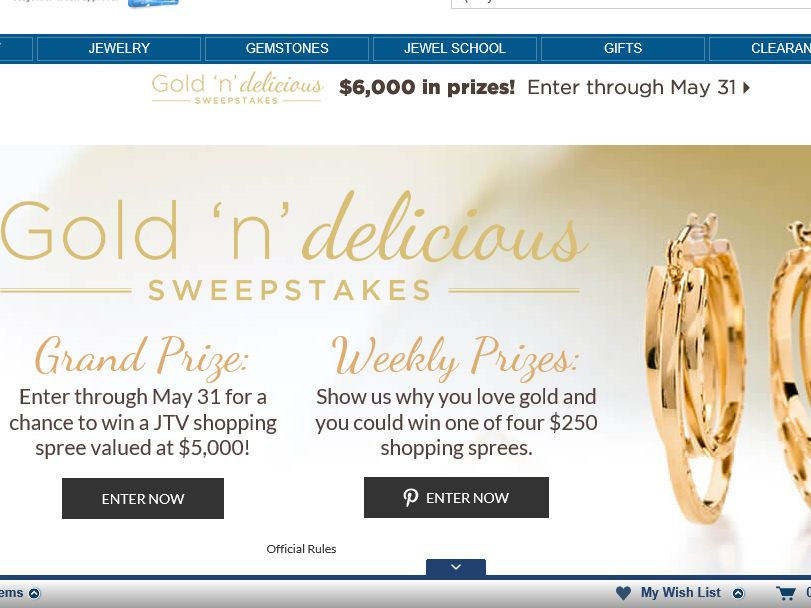 JTV's Gold 'n Delicious Sweepstakes
