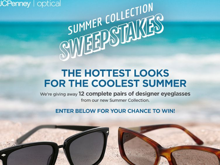 The JCPenney Optical Summer 2015 Summer Collection Sweepstakes