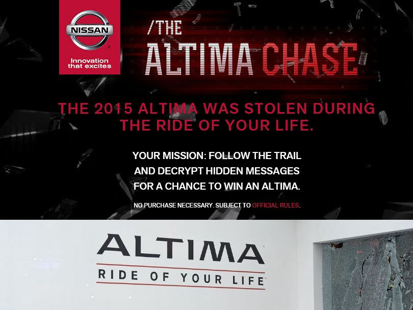 The Altima Chase Sweepstakes