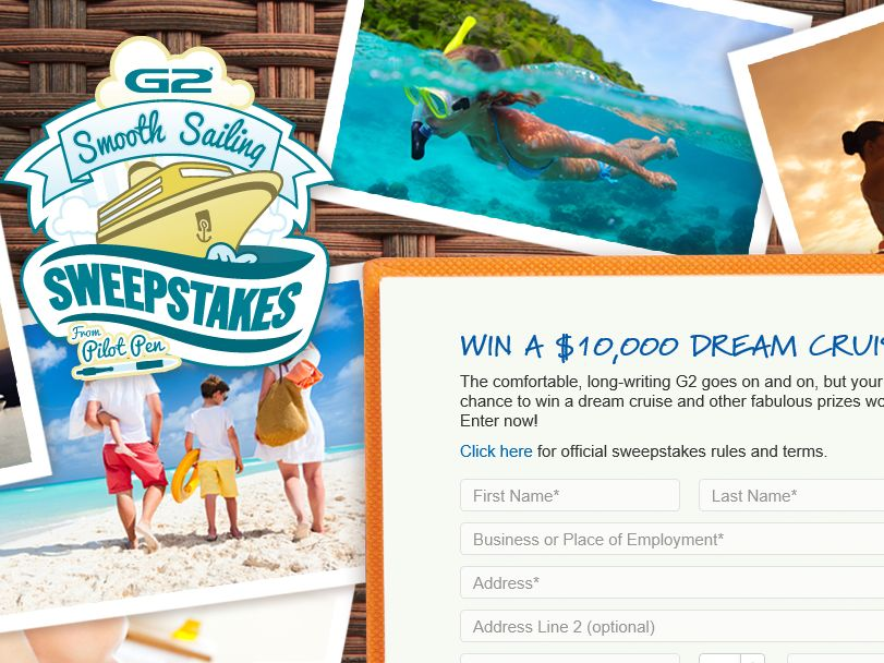 """The Pilot """"G2 Smooth Sailing"""" Sweepstakes"""