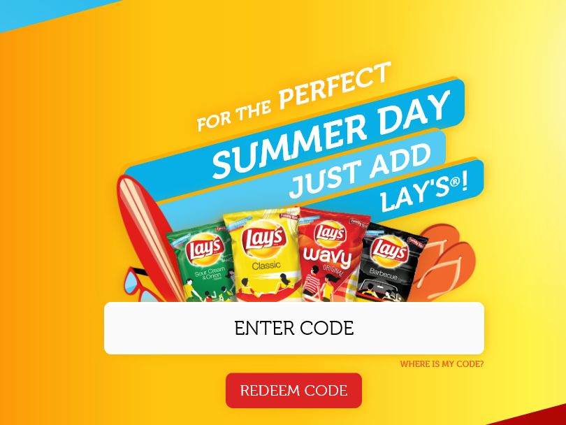 LAY'S Summer Days Sweepstakes – Code Required