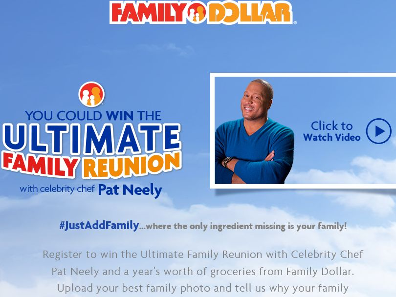 """The Family Dollar """"The Ultimate Family Reunion"""" Contest"""