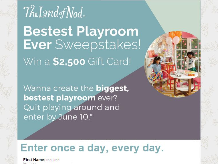 The Land of Nod Playroom Sweepstakes