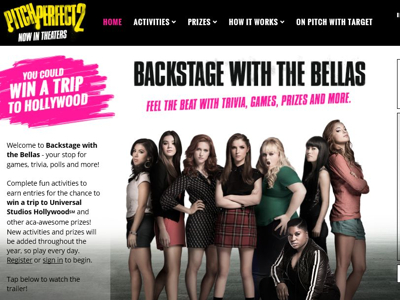 Pitch Perfect 2 Backstage with the Bellas Sweepstakes
