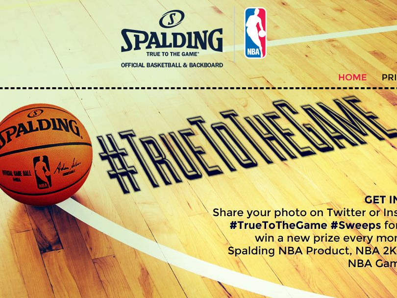 The Spalding True to the Game Sweepstakes
