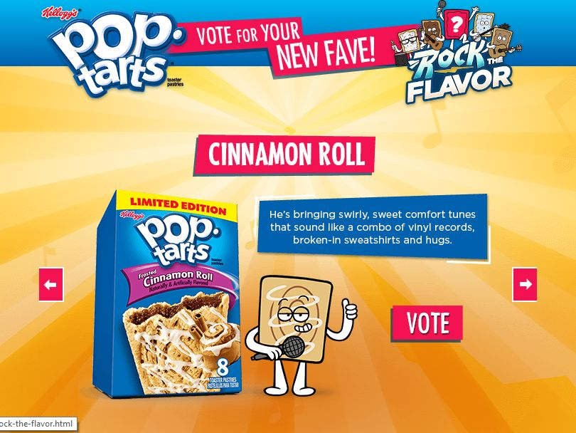 The Kellogg's Pop-Tarts Rock the Flavor Online Instant Win Game
